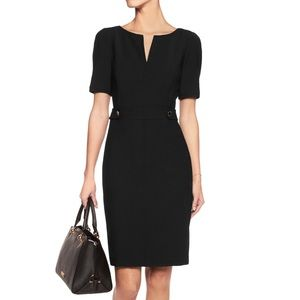 TORY BURCH LYDIA short sleeve wool sheath dress 0